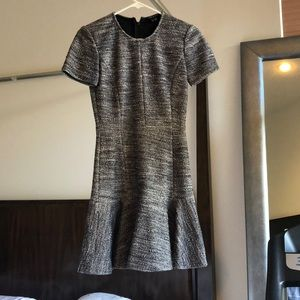 Theory navy and white tweed dress size 2